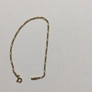 """14k 2mm Figaro Bracelet 6.75"""""""